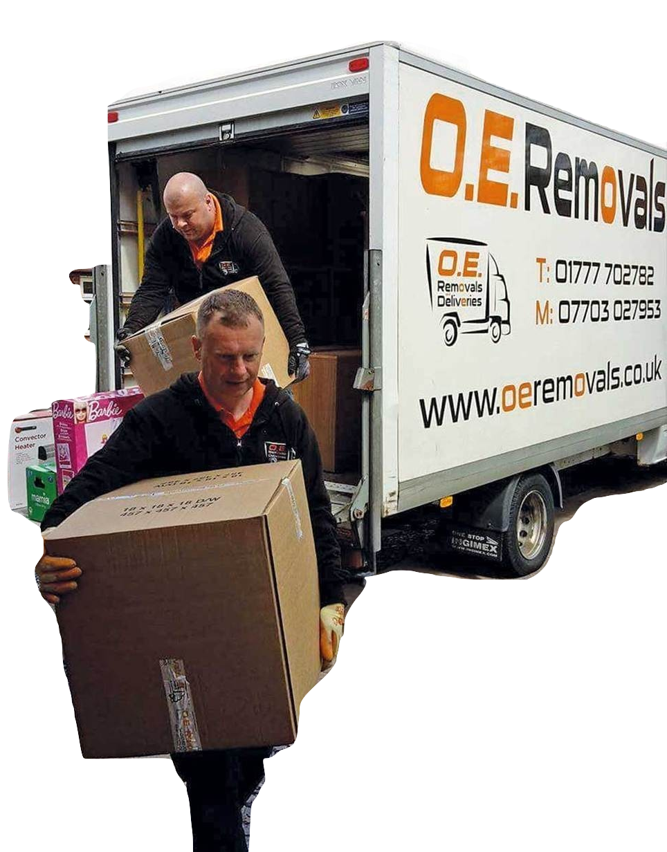 removals retford men with boxes oe