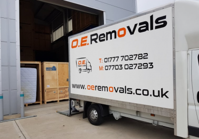 oe removals services van loading retford